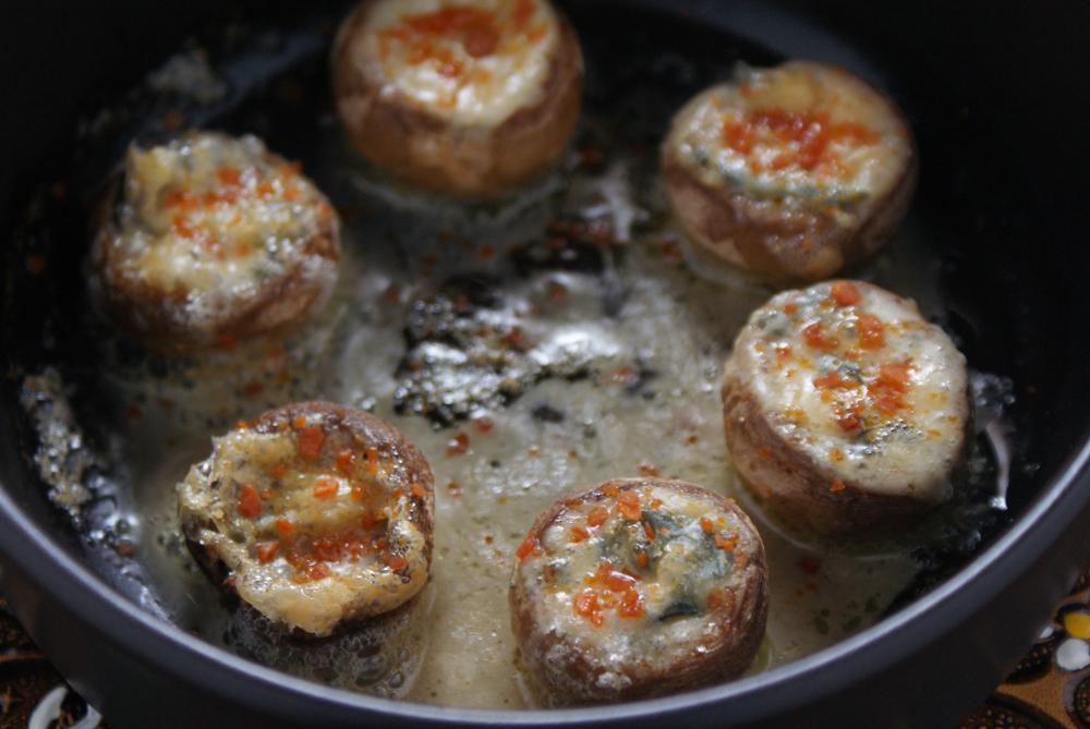 オーブントースターで簡単♪♪粉雲丹とチーズのマッシュルームオーブン焼き