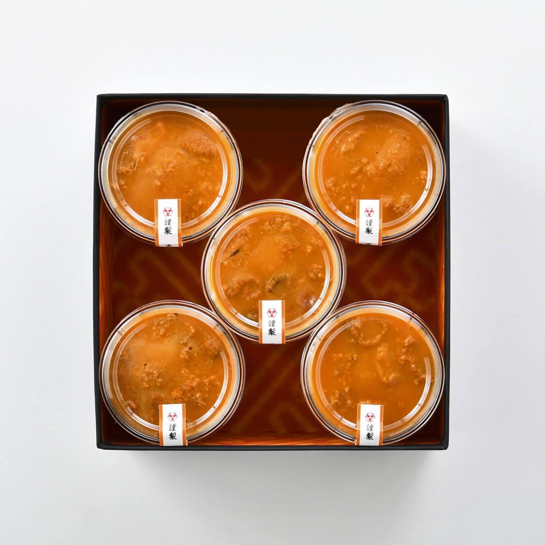 雲丹あわせ冷製豆乳茶碗蒸し5食分詰合